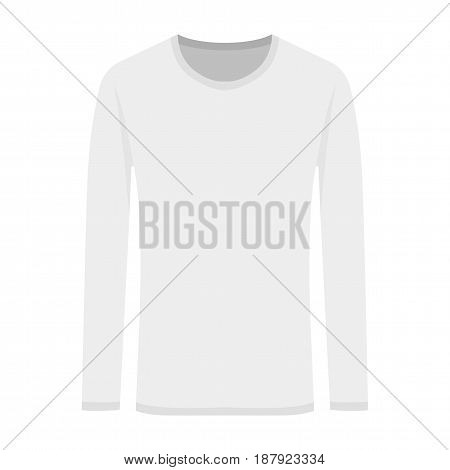 Vector illustration of white long-sleeved. Flat illustration