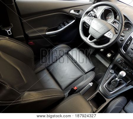 Top view of car seats with active lateral support stock image