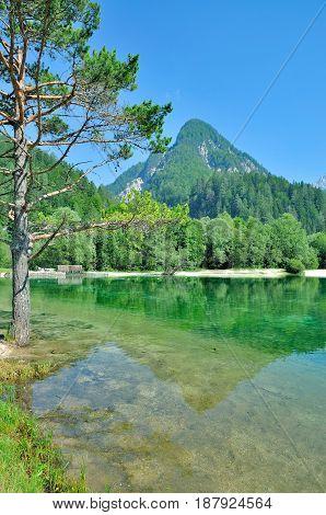 at Lake Jasna in Triglav National Park,Slovenia