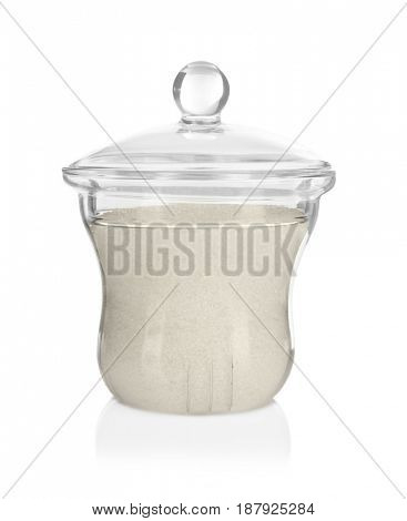 Sugar bowl on white background