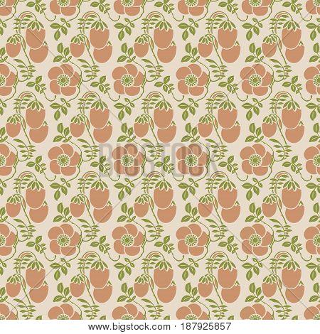Vintage background seamless pattern - vector design