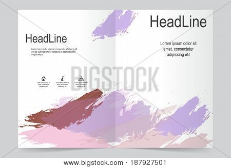 Cover template watercolor background flyer design. Abstract template for annual business report poster