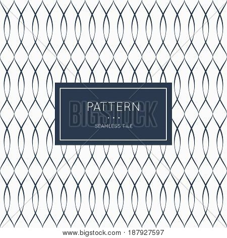 Geometric seamless pattern. Vector illustration for fashion minimalistic design. Minimal style abstract background decoration. Modern elegant wallpaper with border frame. White black vintage color