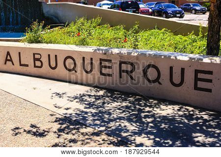 Albuquerque, NM, USA - 06/17/2015: A commemorate wall with the word