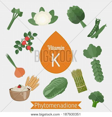 Vitamin K Or Phylloquinone Infographic