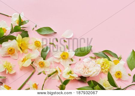 Composition with flowers