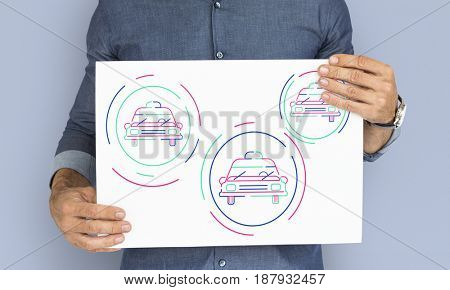 Automotive car graphic design illustration