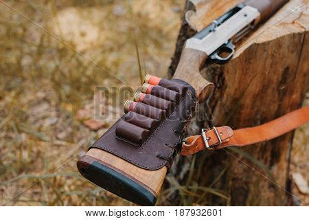 Autumn hunting season. Hunting Conceptual background. sport