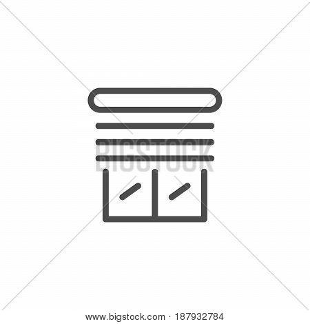 Jalousie line icon isolated on white. Vector illustration