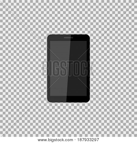 Realistic Modern, Stylish Mobile Phone On Isolate Background. Vector Illustration