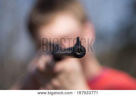 Man With Air Gun