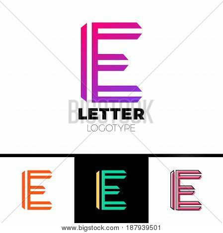 Abstract Letter E Logo Design Template. Line Vector Symbol. Premium Elegant Sign Mark Icon