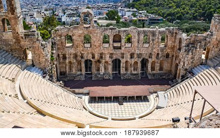 ancient theater under Acropolis of Athens Greece Greece Athens Acropolis