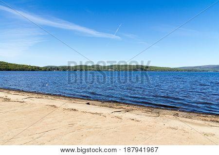 Maskinongé Lake Lanaudière St-Gabriel-de-Brandon Quebec Canada at summertime