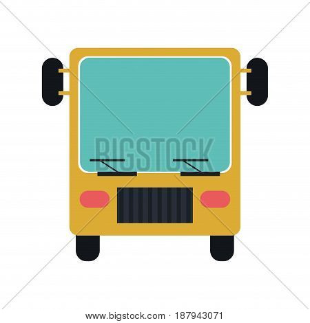 bus frontview  icon image vector illustration design