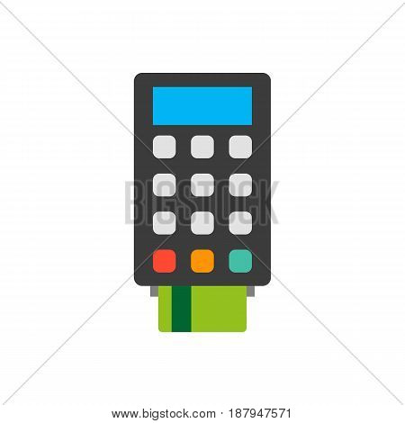 icon: terminal for payment by credit card. vector illustration.