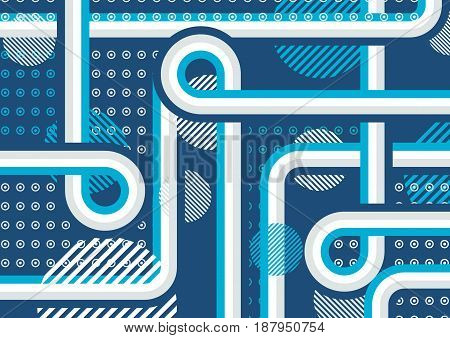 Abstract background with blue perperdikuljarnymi forms. Slim design. The illusion of layers.