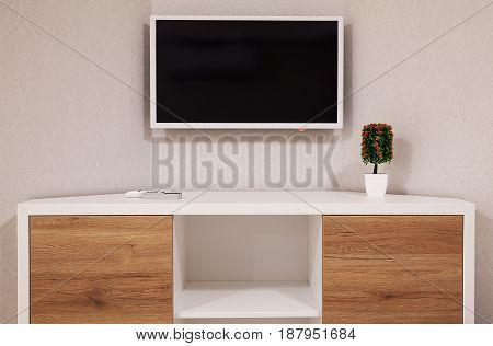 Modern Tv And Room Corner