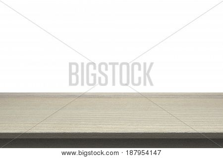 Wood Table Top On Isolated White Background