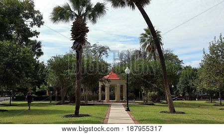 Beautiful neighborhood park in San Antonio, Texas