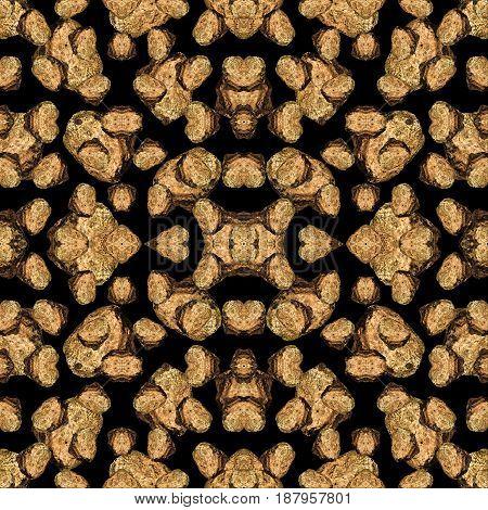 Rock Motif Geometric Seamless Pattern Mosaic