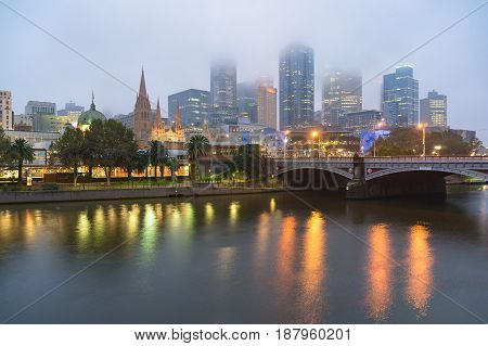 Beautiful Melbourne Landscape In The Morning