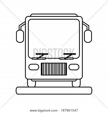 bus sideview icon image vector illustration design