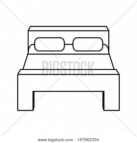 double bed icon image vector illustration design