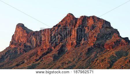 A Picacho Peak State Park Dawn Shot near Picacho Arizona