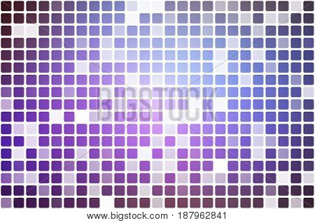 Purple lilac pink occasional opacity vector square tiles mosaic over white background