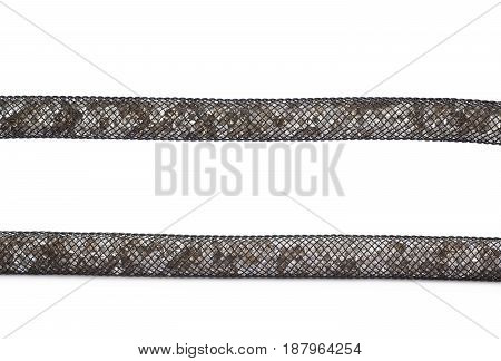 Fragment of a crystal bracelet isolated over the white background, set of two different foreshortenings