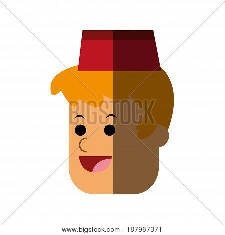 happy fast food waiter icon image vector illustration design