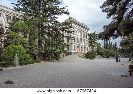 View of Tbilisi State University established 1918.