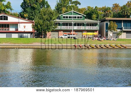 Melbourne Racing Club And Mercantle Rowing Club On Southbank