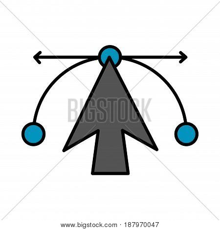 cursor or arrow pointer with design elements icon image vector illustration design