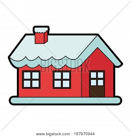 santas north pole home christmas character icon image vector illustration design
