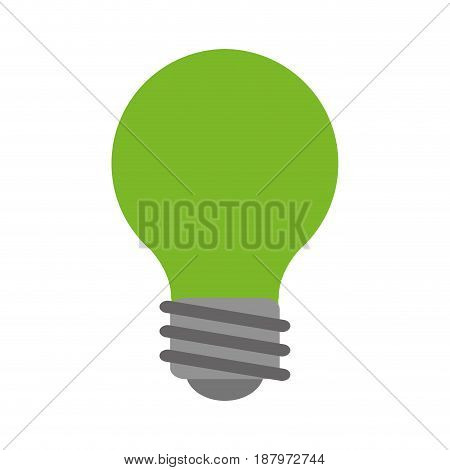 green lightbulb eco friendly related icon image vector illustration design