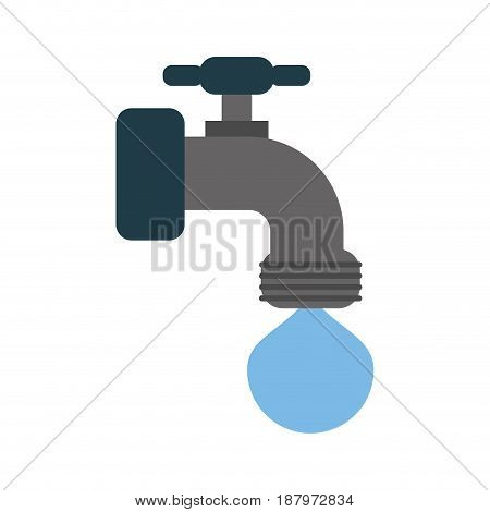 faucet with water drop icon image vector illustration design