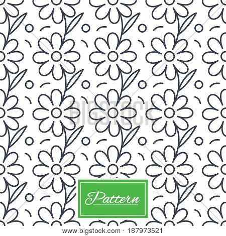 Flower floral texture. Stripped geometric seamless pattern. Modern repeating stylish texture. Abstract minimal pattern background. Vector