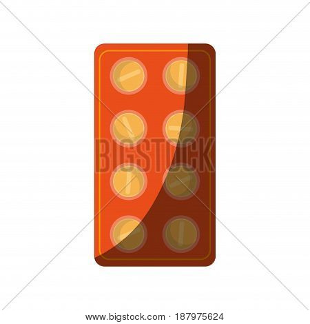 tablets medication healthcare related icon image vector illustration design