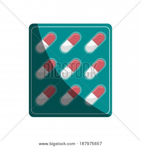 pills medication healthcare related icon image vector illustration design