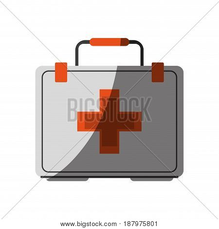 first aid kit healthcare related icon image vector illustration design