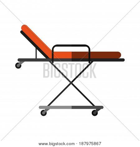 hospital bed or gurney healthcare related icon image vector illustration design