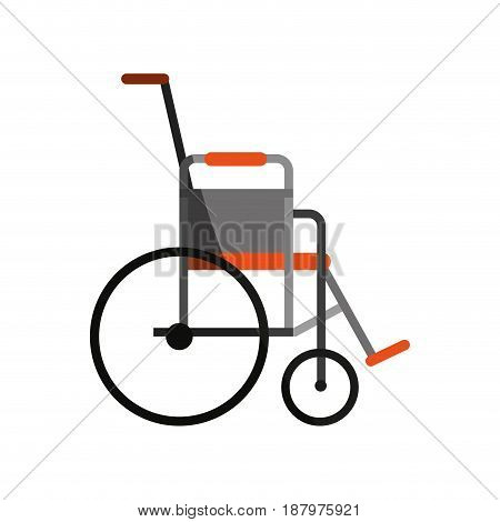 wheelchair healthcare related icon image vector illustration design