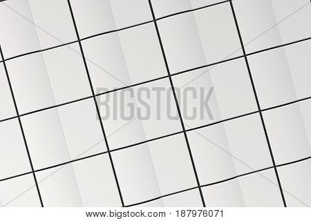 Grid Of Blank White Opened Brochure Mock-up On Black Background