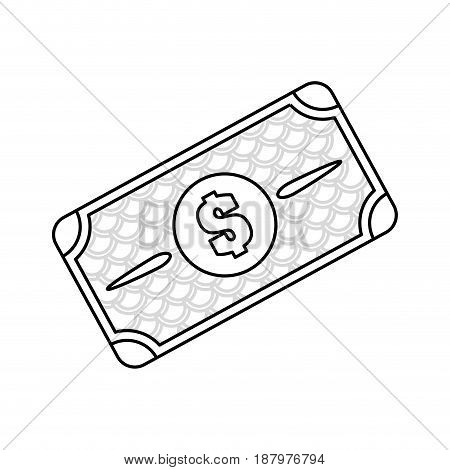 line bill dolar money, vector illustration design