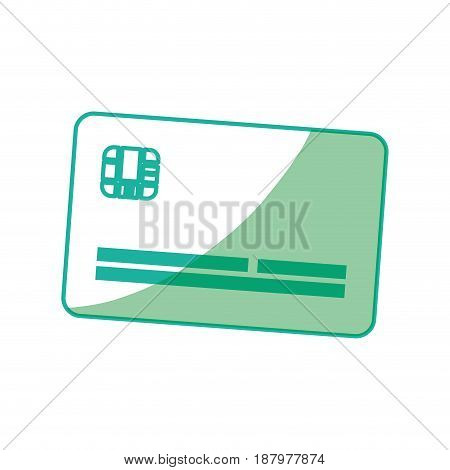 silhouette cute credit card to pay electronic, vector illustration
