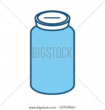 glass bottle to save cash money, vector illustration