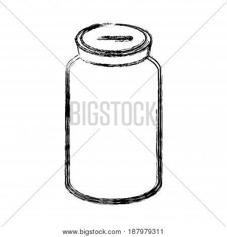 figure glass bottle to save cash money, vector illustration