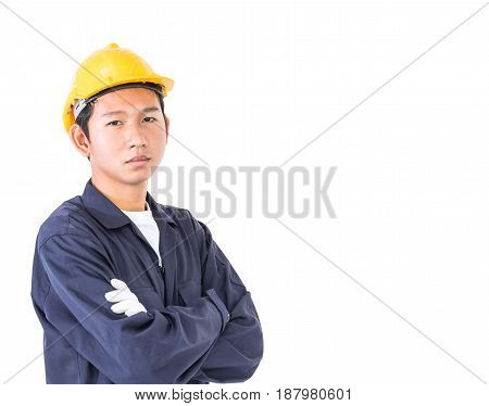Young Worker Standing With Arm Crossed